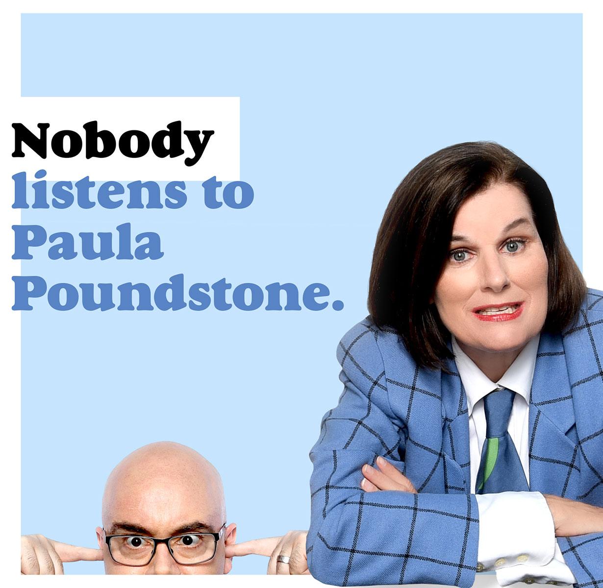 NOBODY LISTENS TO PAULA POUNDSTONE APA
